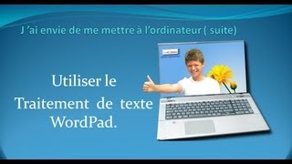 Utiliser WordPad de Windows.