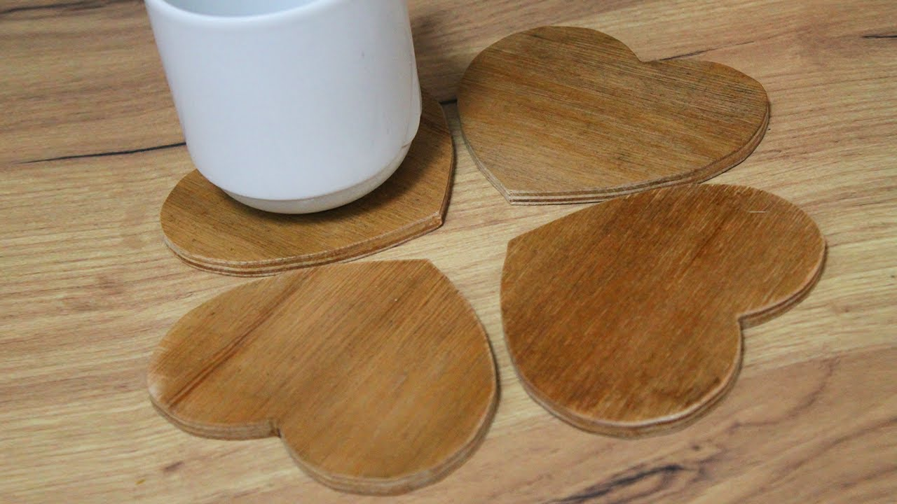 Small Wood Projects Diy Wooden Coasters Youtube