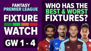 Who Has The Best Opening Fixtures?   FPL FIXTURE WATCH   Fantasy Premier League