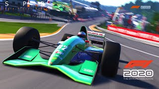 F1 2020 Game: All Classic Cars Driven! Spa Hotlaps | Xbox One X