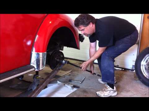 How To Remove Classic VW Beetle Bug Rear Axle Nut, By Last Chance Auto Restore.com