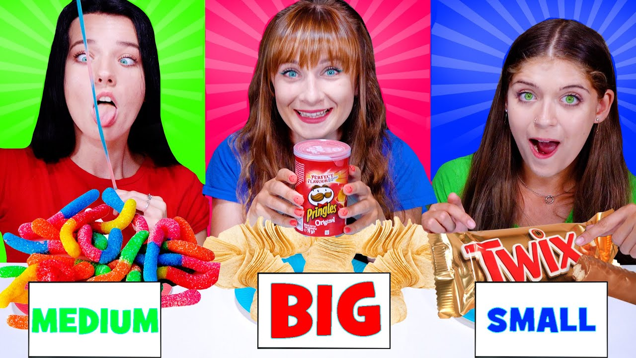 ASMR Big, Medium, Small Food Challenge (Version with Small Food)
