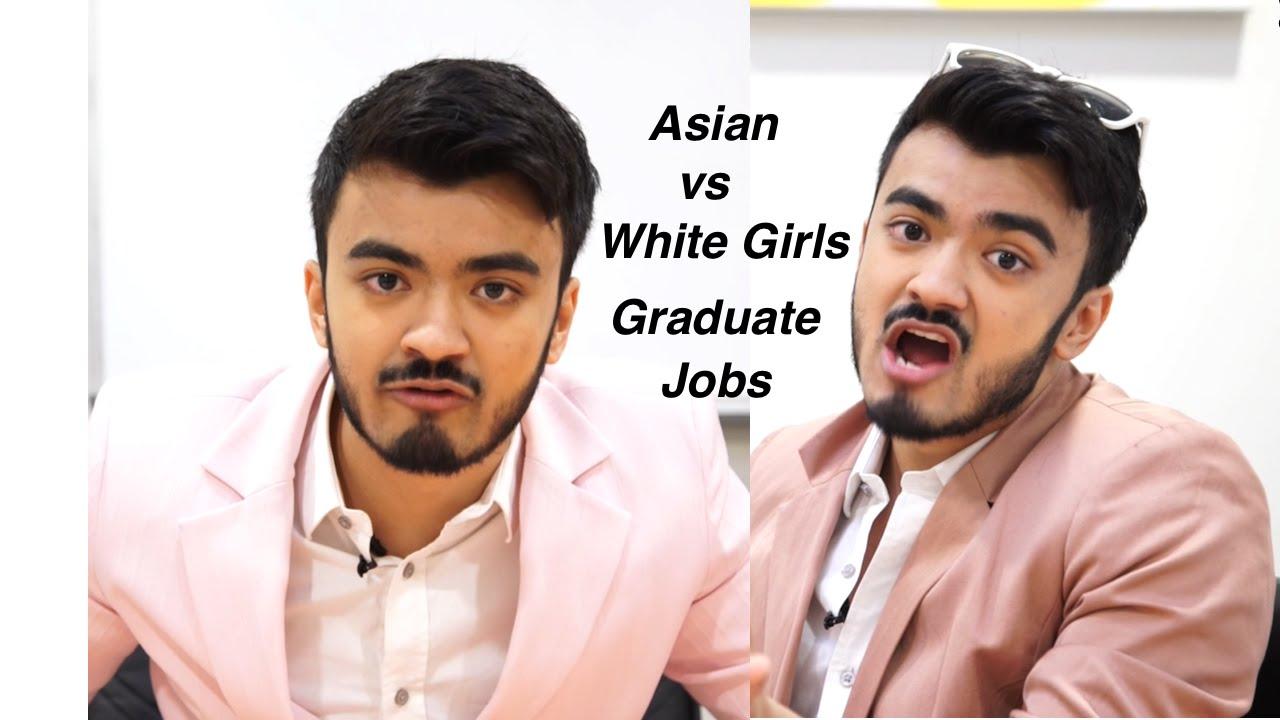 Asian V White Girls Graduate Jobs