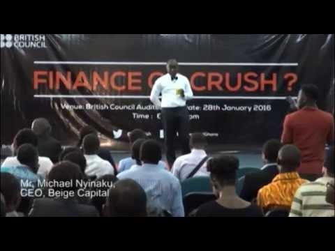"Michael Nyinaku, CEO of BEIGE Capital speaking on ""growing your business finances"" -  TEDx Accra"