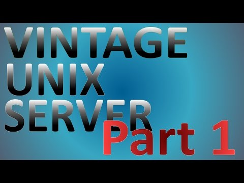 "Vintage 486 UNIX Server ""First Boot"" (1/4)"
