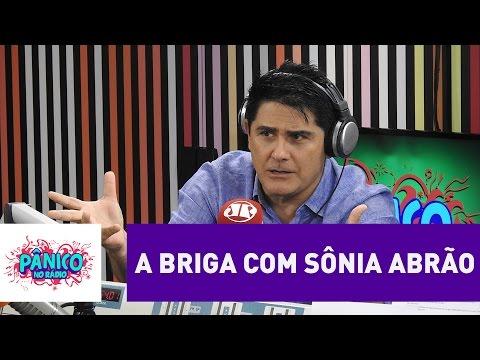 """César Filho explica briga com Sônia Abrão: """"ela ficou na bronca e não entendi"""""""