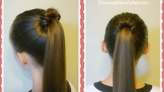 Spindle Top Ponytail, Quick And Easy Hairstyles