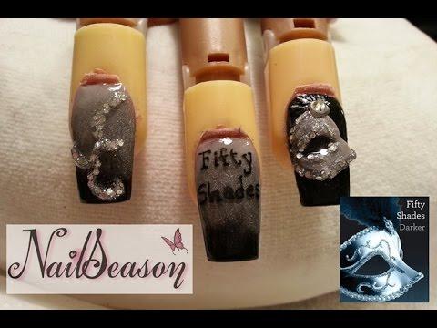 Decoracion De Uñas Paso A Paso Diseño Fifty Shades Of Grey Nails