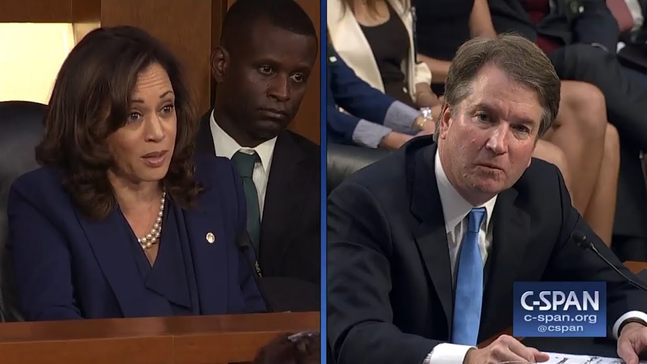 Brett Kavanaugh Struggles To Answer Kamala Harris' 'Simple ...