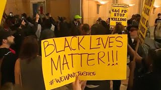 Protests in Sacramento over police shooting death of unarmed black man