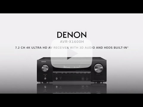 Cutting-edge Home Theatre: Denon AVR-X1600H 7.2ch 4K Ultra HD AV Receiver