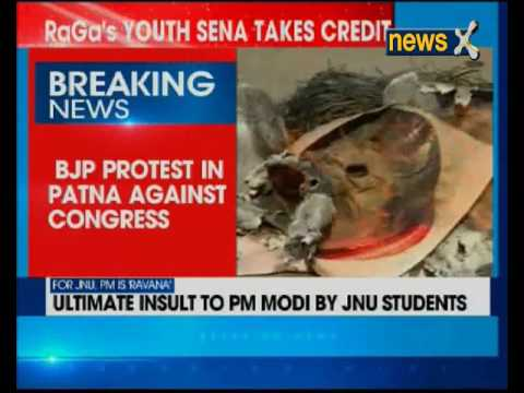 BJP protests in Patna against Congress