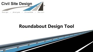 Civil Site Design - Roundabout Design Tool