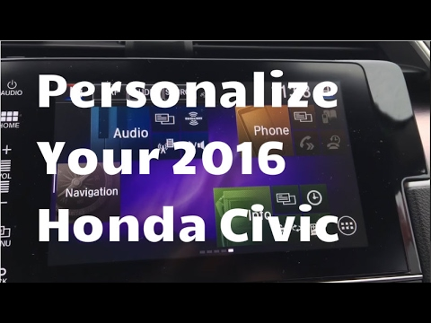 Personalize Your Display Audio System Screen in a 2016 Honda Civic | Tutorial | WHITBY OSHAWA HONDA