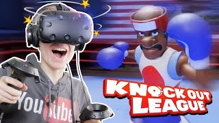 BOXING IN VIRTUAL REALITY! | Knockout League VR #1 (HTC Vive Gameplay)