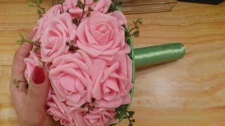 Свадебный букет Розовые розы из фомо  2 ч✔ Marine DIY✔