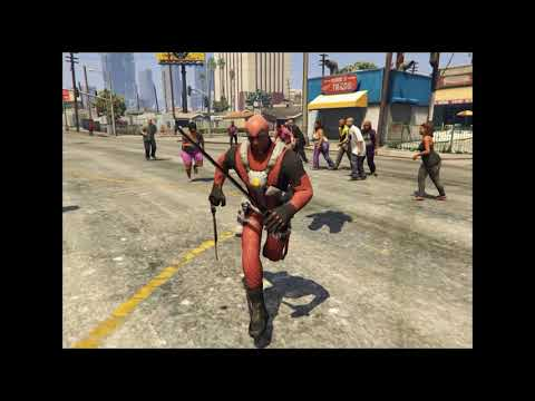 GTA V - Teleportation + Deadpool Skin MOD