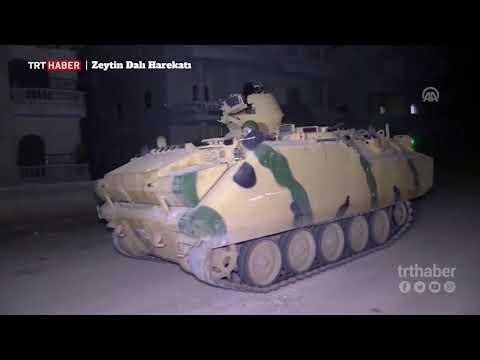 Mehmetçik, Afrin halkının güvenliği için gece devriyesine başladı.gece devriyesi
