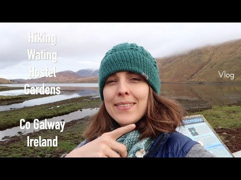 Knitting, Challenge, Hostel and Gardens Co Galway ◆ Vlog ◆ knitting ILove