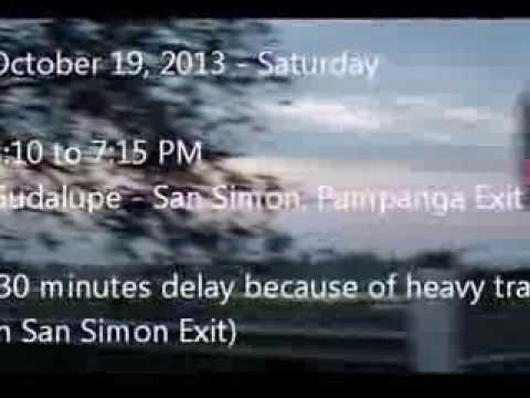 Timelapse 1: Metro Manila to Pampanga