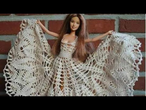 Vestido Muñeca Barbie Tejida a Crochet parte 1 - YouTube