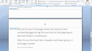 Start page numbering at specific page in Office 2007 thumbnail