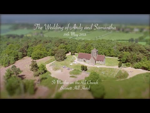 Aerial film of Andy and Samantha's Wedding in Surrey – 19/5/18