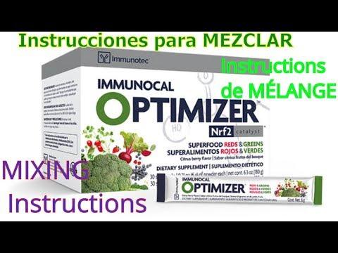 Instrucciones para MEZCLAR IMMUNOCAL OPTIMIZER MIXING Instructions Instructions de MÉLANGE