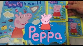Peppa Pig World Panini Sticker Book Starter set with 25 stickers unboxing