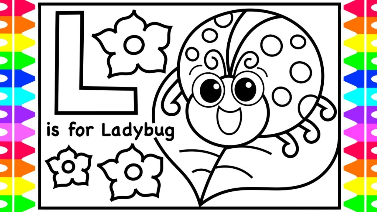ABC Alphabet Coloring Pages for Kids | L is for Ladybug | Ladybug ...