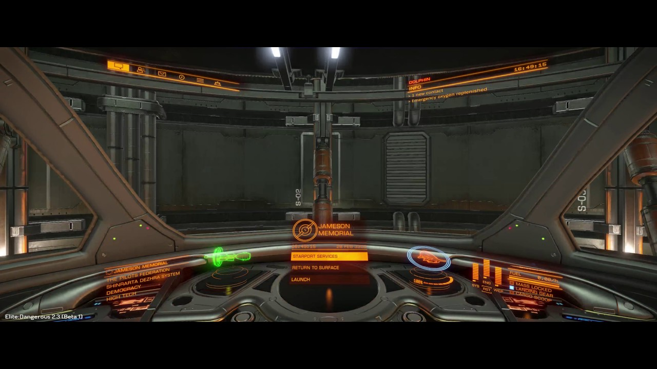 Elite Dangerous 2 3 Beta 1 - Taking the Dolphin out for a spin