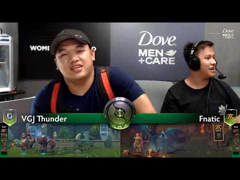 Fnatic vs VGJ Thunder Game 1 (Bo2) | The international 8 | Group Stage Day 1