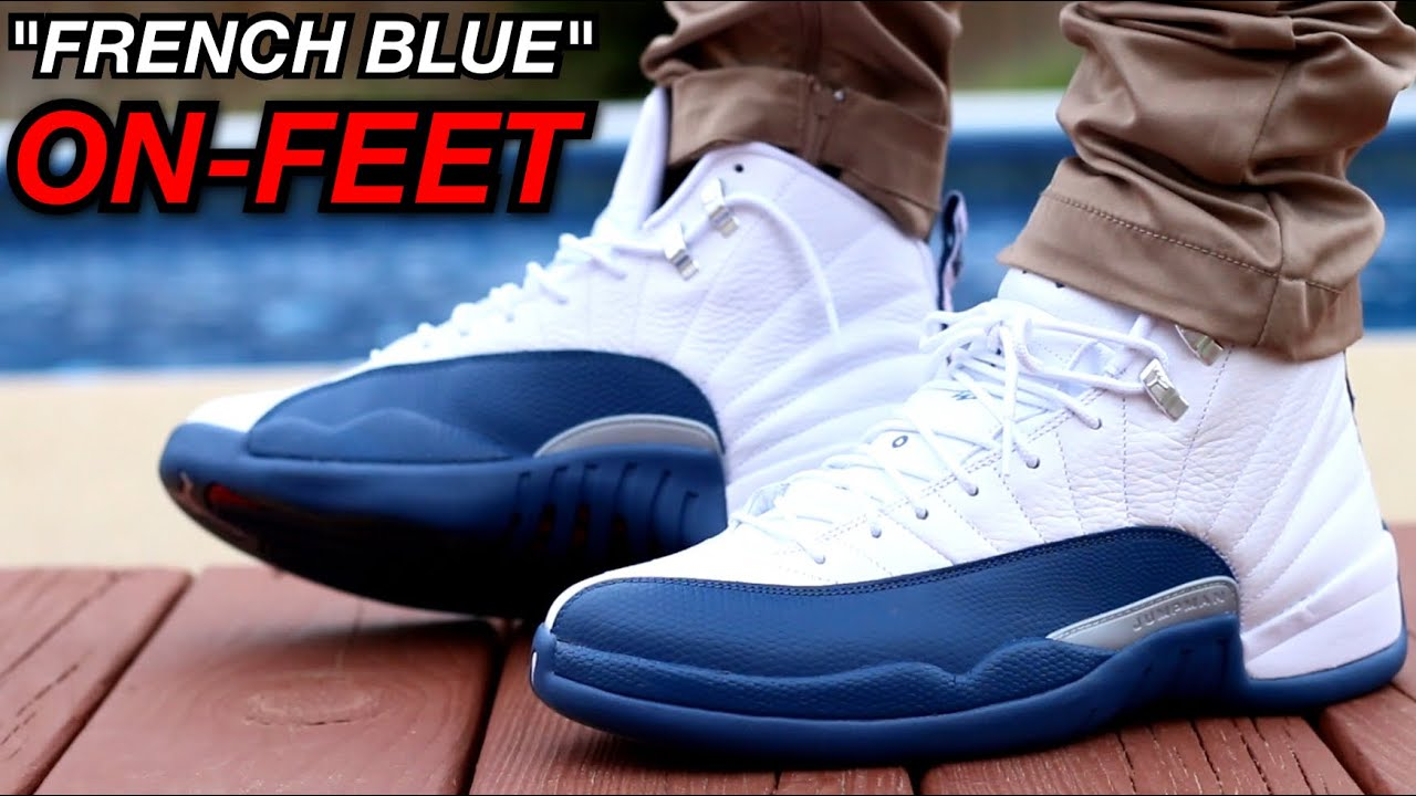 3d0f3a5a3f47ff ... authentic french blue air jordan 12s on feet youtube 7e796 d5933