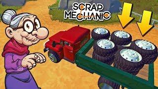 БАБКА С СЕРГЕИЧЕМ СПЁРЛИ КОЛЁСА У ПАЛЫЧА !!! МУЛЬТИК в Scrap Mechanic !!!