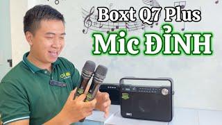 LOA BOXT Q7 PLUS - Bộ Micro Quá Chất Với Loa Karaoke Gía Rẻ