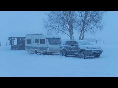 Wintercamping in Norwegen mit Wohnwagen