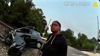 Florida Woman Drives Into Moving Train, Is Fine (Car Is Not Fine)