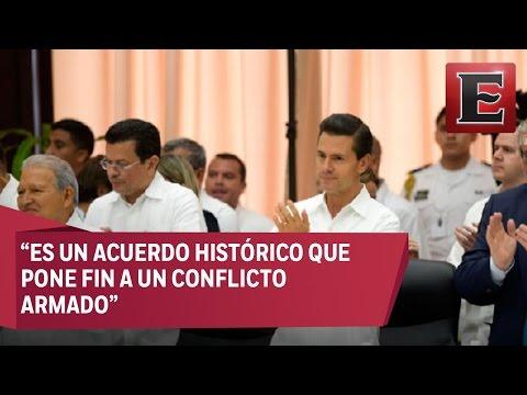 Enrique Peña Nieto acude como testigo a la firma del acuerdo de paz