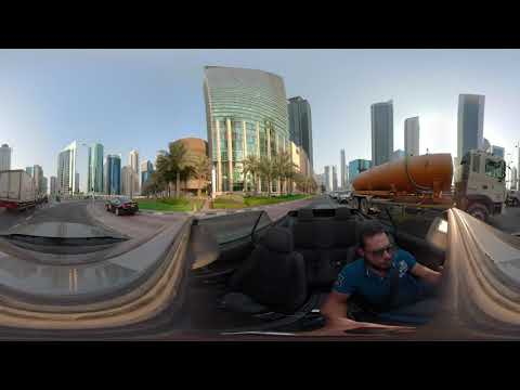 A Ride in Dafna , Doha , Qatar in 360 video 5K
