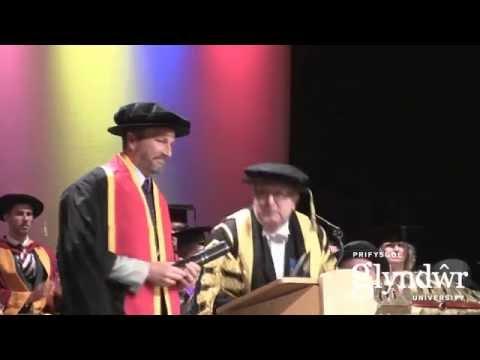 Glyndwr Graduation 2014: Robbie Savage awarded honorary fellowship
