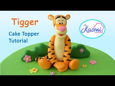 How To Make A Tigger Cake Topper Como Hacer En Pasta De Goma