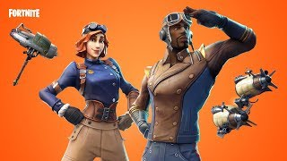 Fortnite new skins. MAXIMILIAN AND AIRHEART. TURBINE