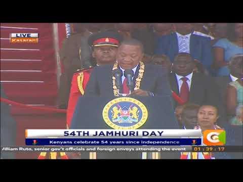 President Kenyatta's speech on 54th Jamhuri day