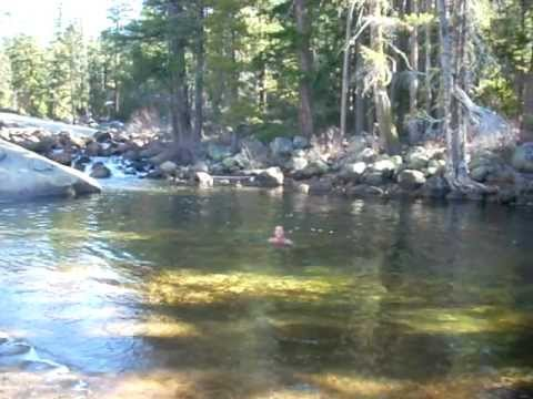 Swimming in Yosemite, upper Nevada Falls