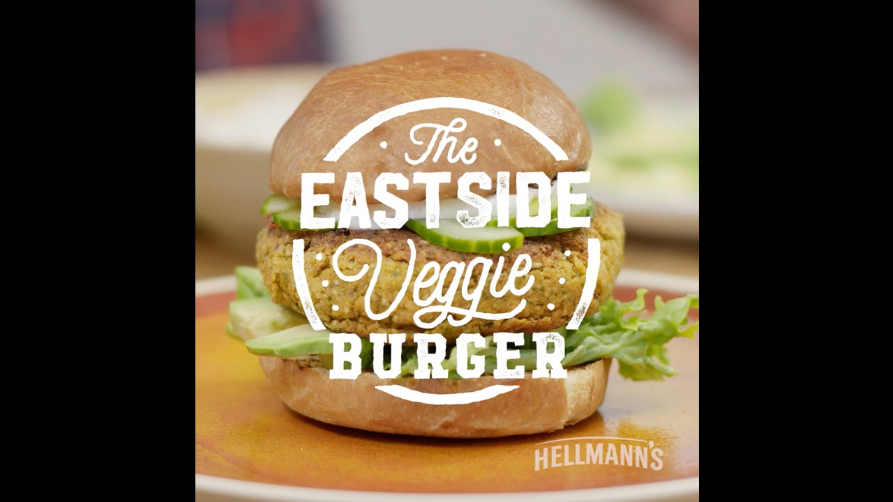 Hellmann's & DJ BBQ: Eastside Veggie Burger Recipe #grilltopia