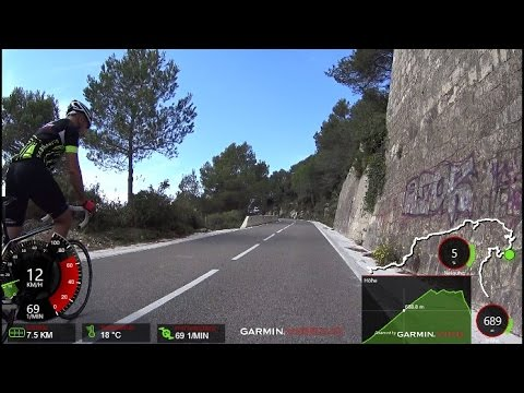 60 Minute Uphill Cycling Training La Mussara Spain Full HD