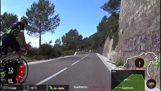 60 Minute Uphill Cycling Training La Mussara Spain Full HD