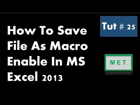 Excel Vba Save As Macro Enabled Template - Creating VBA Add