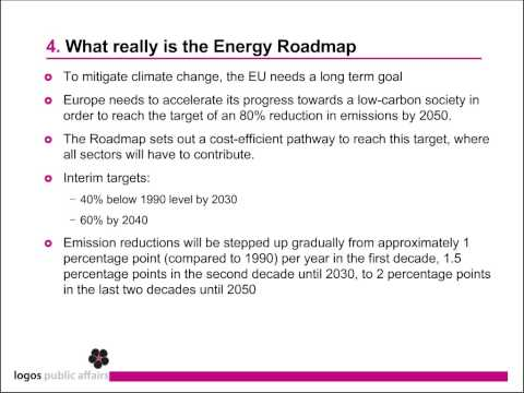 Roadmap for moving to a low-carbon economy by 2050