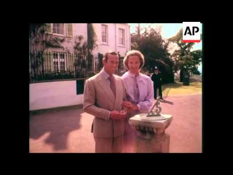 PRINCE MICHAEL OF KENT'S ENGAGEMENT - COLOUR